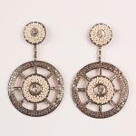 Seed Pearl and Diamond Dangle Earrings